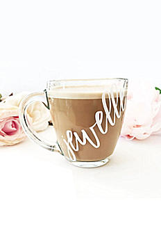 Personalized Glass Coffee Mug EB3289P