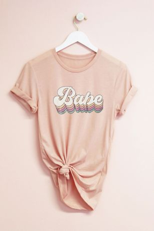 Retro Style Bride Babe Semi-Fitted Jersey T-Shirt