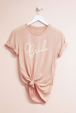Script Bridal Party Semi-Fitted Jersey T-Shirt