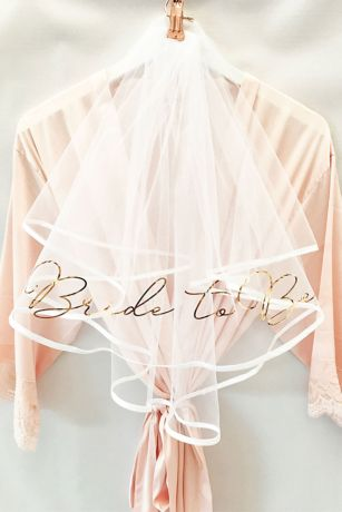 Bride to Be Foil-Printed Veil