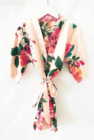 Flower Girl Watercolor Floral Robe