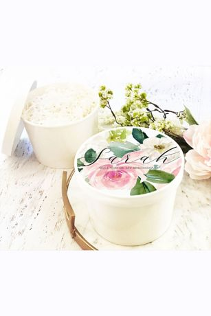 Spring Floral Round Gift Box
