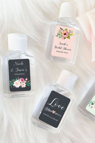 Personalized Garden Theme Hand Sanitizer Favors
