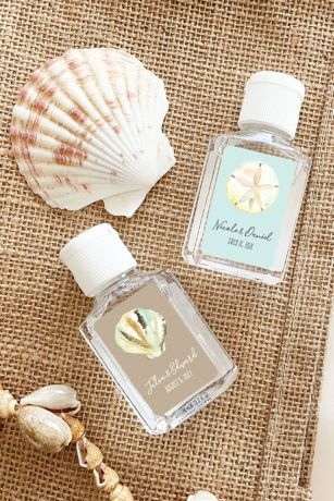 Personalized Beach Theme Hand Sanitizer Favors