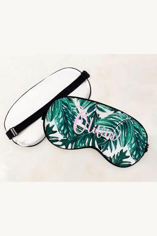 Personalized Palm Leaf Sleep Mask