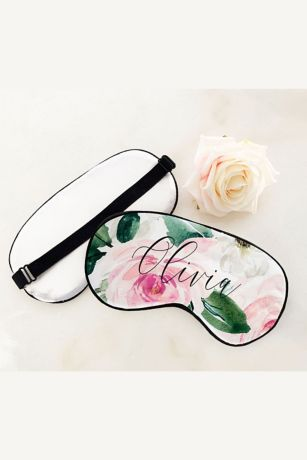 Personalized Floral Sleep Masks