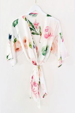 Spring Rose Printed Robe