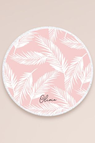 Personalized Tropical Round Towel