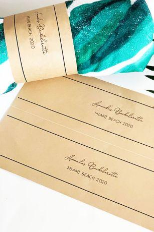 Adhesive Kraft Paper Towel Wrap Labels