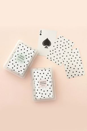 Confetti Heart Personalized Playing Cards