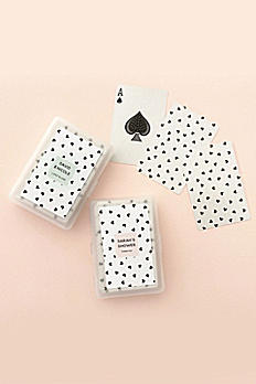 Confetti Heart Personalized Playing Cards EB3397CFHRT