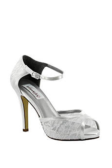 Dyeables White (Dyeable Lace Peep-Toe Platform Heels)