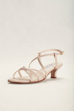 Touch Ups Beige Heeled Sandals (Touch Ups Eileen Strappy Sandal)