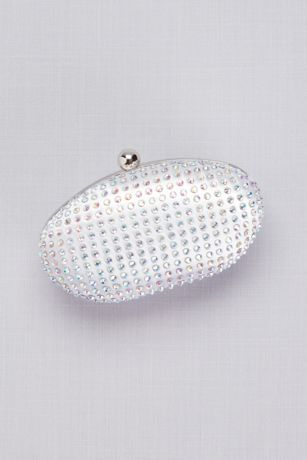 Dyeable Satin Crystal-Encrusted Minaudiere