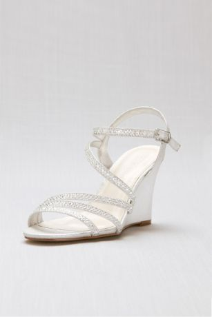 Blossom Grey (Crystal Detailed Strappy Low Wedges)