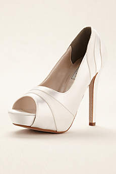Touch Ups White Pumps (Emmy Dyeable Platform Pump by Touch Ups)