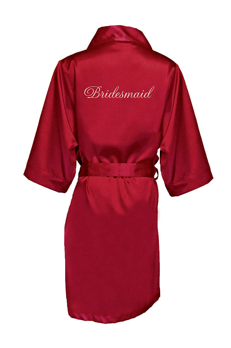 50920def6b5 Embroidered Bridesmaid Satin Robe