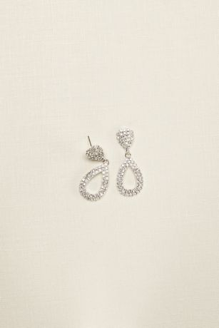Bold Teardrop Crystal Earrings
