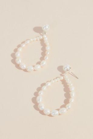 Statement Pearl Teardrop Earrings