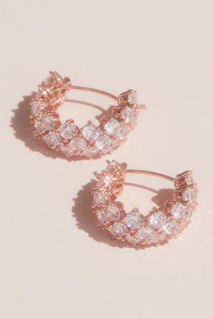 Cubic Zirconia Huggie Hoop Earrings