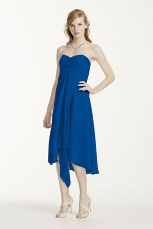 Strapless Chiffon Short Dress