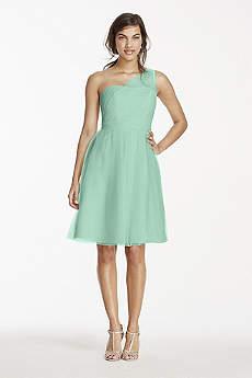 Short A-Line One Shoulder Dress - David's Bridal