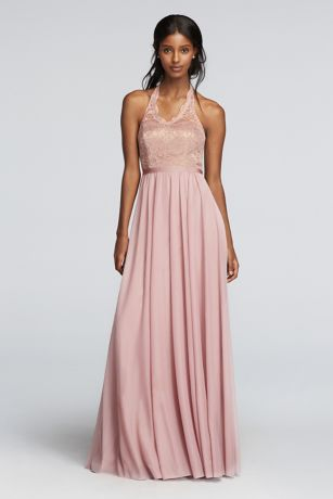 Rose Gold Metallic Sequin Bridesmaid Dresses David S Bridal