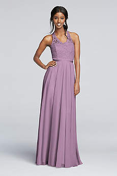 Long A-Line Halter Dress - David's Bridal