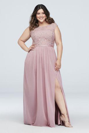 Long A-Line;Sheath Sleeveless Dress - David's Bridal