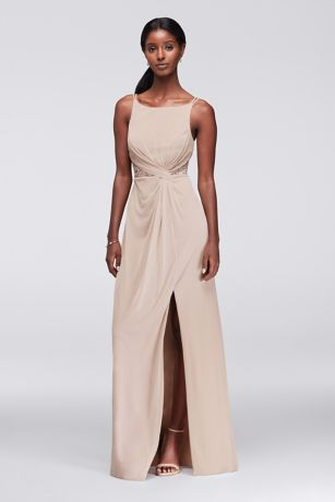 Long Sheath Spaghetti Strap Dress - David's Bridal