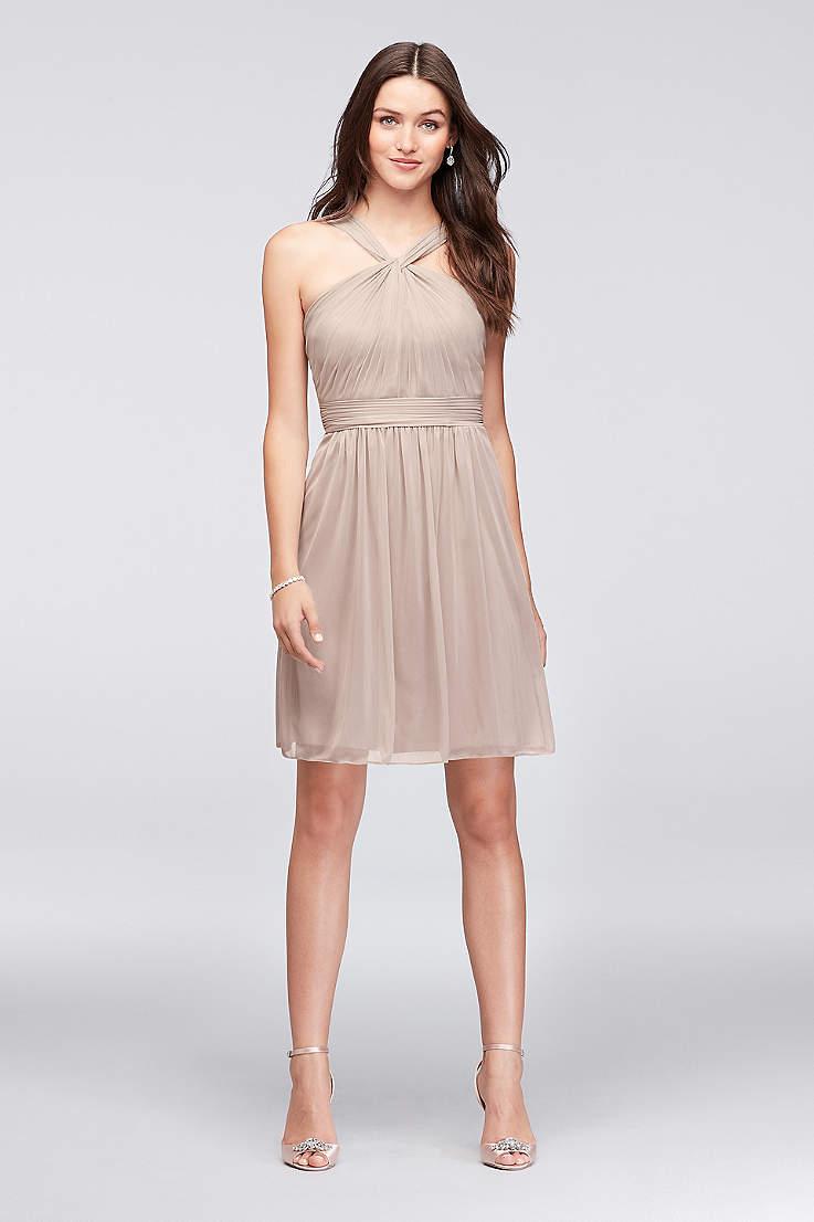 Bridesmaid Knee Length Dresses