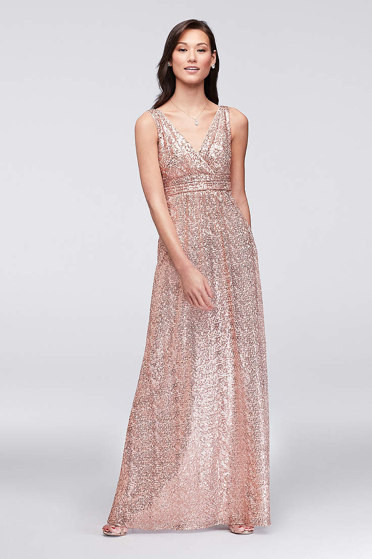 18efc9192e8d Gold, Silver and Metallic Formal and Wedding Guest Dresses | David's ...