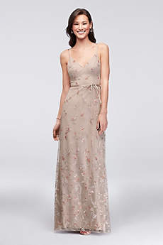 Long Sheath Spaghetti Strap Cocktail and Party Dress - David's Bridal