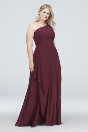 22267dbbe7f Soft   Flowy David s Bridal Long Bridesmaid Dress