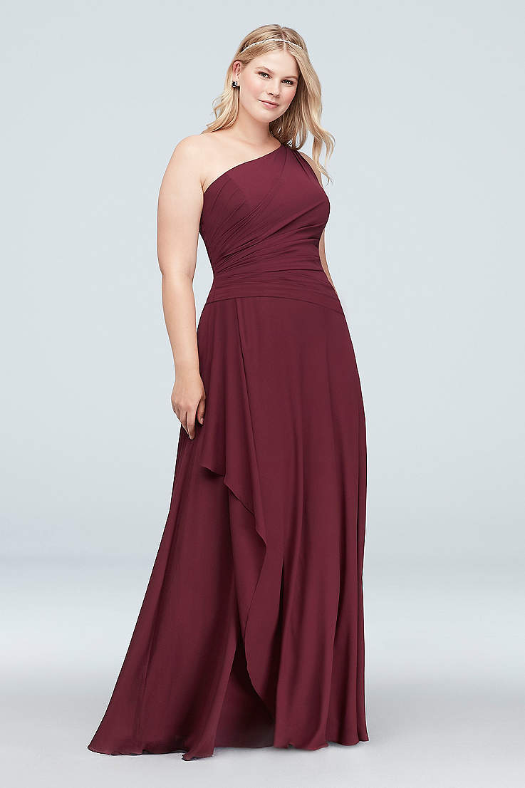 dbf997101907a Soft & Flowy David's Bridal Long Bridesmaid Dress