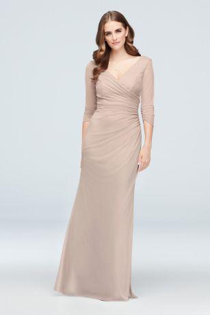 Long Sheath 3/4 Sleeves Dress - David's Bridal
