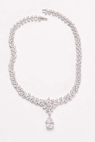 Bridal wedding necklaces davids bridal extravagant cubic zirconia collar necklace junglespirit Gallery