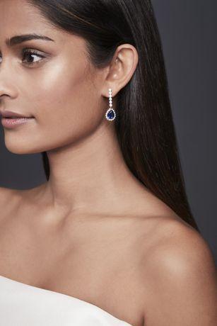 Pear Sapphire Drop Earrings