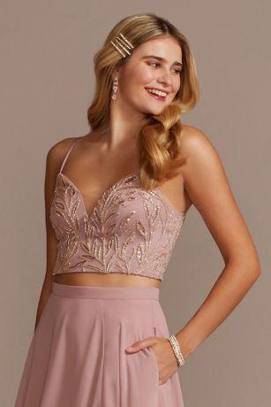 Soft & Flowy;Structured David's Bridal Top Bridesmaid Dress