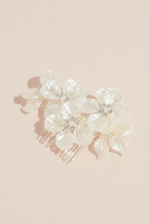 Opal Petals Wedding Comb