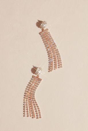 Crystal Fringe Sweep Earrings