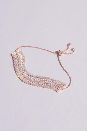 Slinky Crystal Chain Pull Bracelet