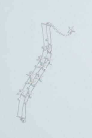 Cubic Zirconia Flower Garland Chain Bracelet