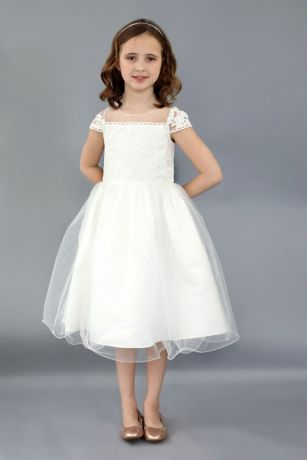 Ballgown Cap Sleeves Dress - US Angels