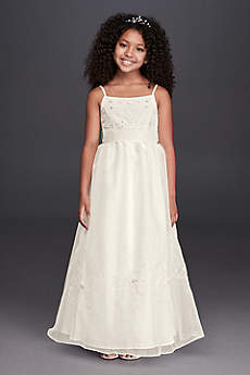 Tea Length Ballgown Spaghetti Strap Communion Dress - Oleg Cassini