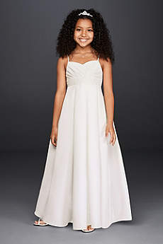 Long Ballgown Spaghetti Strap Communion Dress -