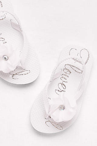Flower girl shoes girls dress shoes davids bridal davids bridal white flowergirl shoes flower girl flip flops mightylinksfo