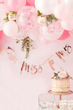 From Miss to Mrs Rose Gold Bunting