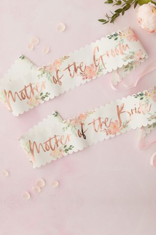 Scalloped Mother Of The Groom and Bride Sashes