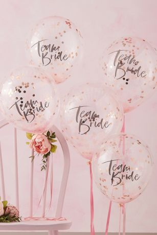 Team Bride Confetti Balloon Set